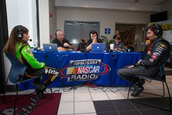 Danica Patrick, Stewart-Haas Racing Chevrolet and Nelson A. Piquet