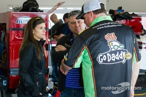 Danica Patrick, Stewart-Haas Racing Chevrolet with father T.J. and crew chief Tony Gibson