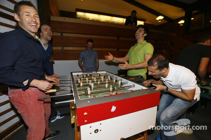 Том Кристенсен, Марк Жене, Марко Бонаноми и Джейми Грин. Зимний лагерь Audi, особое событие.