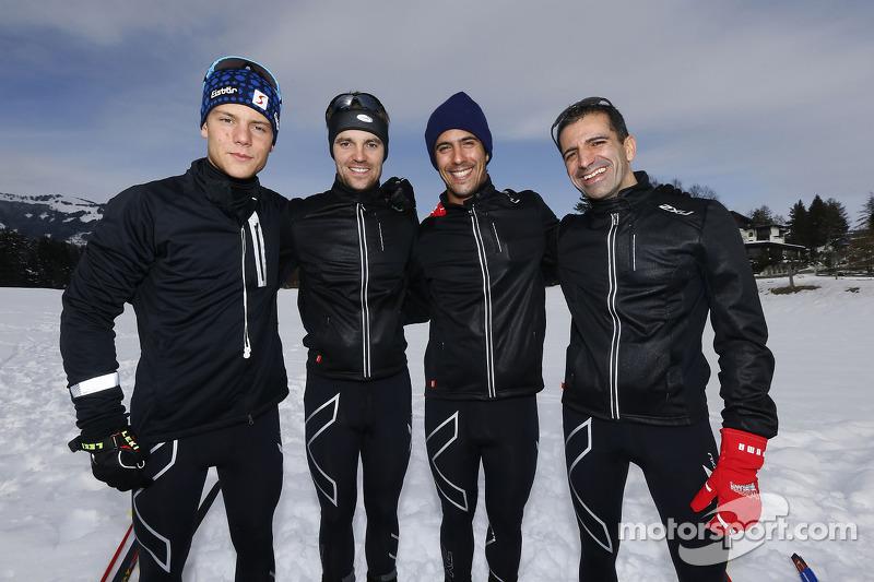 Adrien Tambay, Jamie Green, Lucas di Grassi en Marc Gene