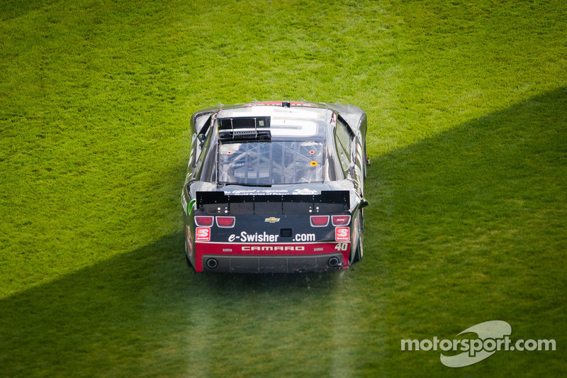 Reed Sorenson in the grass