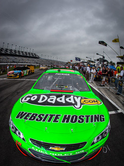 Pole winning car of Danica Patrick, Stewart-Haas Racing Chevrolet on the starting grid