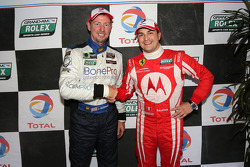 GT pole winner Alessandro Balzan and GX pole winner Jim Norman