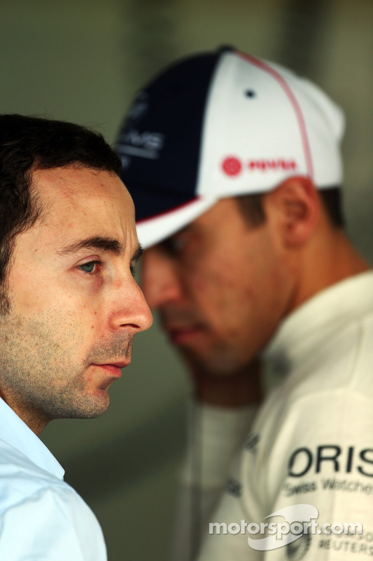 Nicolas Todt, Driver Manager and Pastor Maldonado, Williams