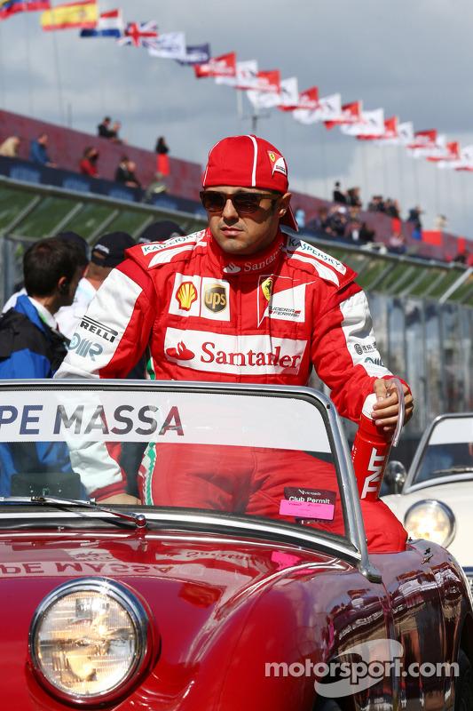 Felipe Massa, Ferrari no desfile dos pilotos