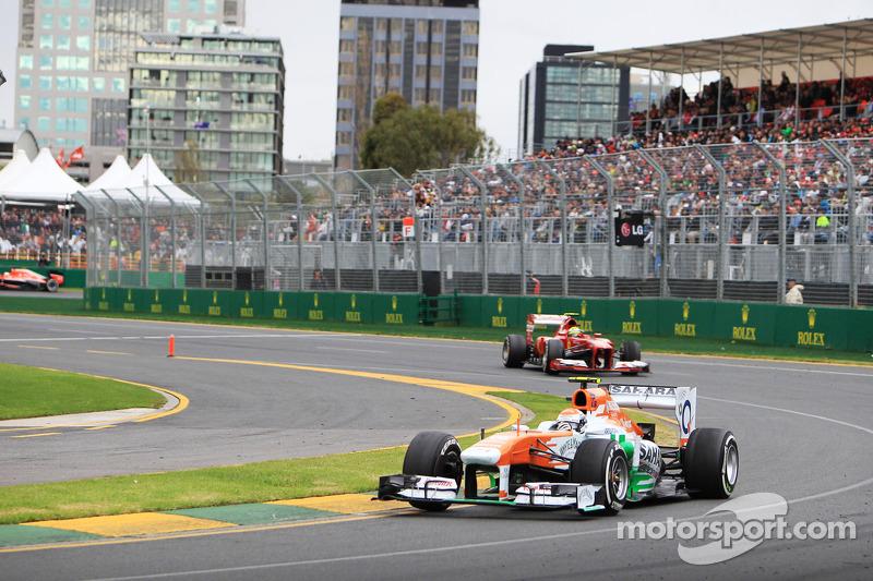 Адриан Сутиль. ГП Австралии, Воскресная гонка.