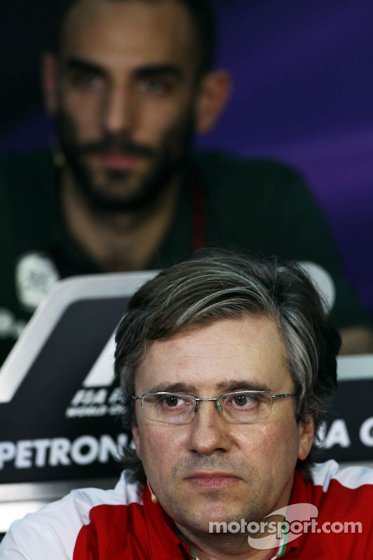 Pat Fry, Ferrari Deputy Technical Director en Head of Race Engineering bij de FIA-persconferentie