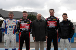 1958 BTCC champion Jack Sears with the 4 champions set to compete in 2013