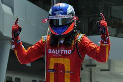 Race winner Fabio Leimer celebrates
