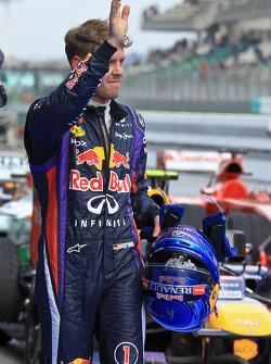 Polesitter Sebastian Vettel, Red Bull Racing RB9