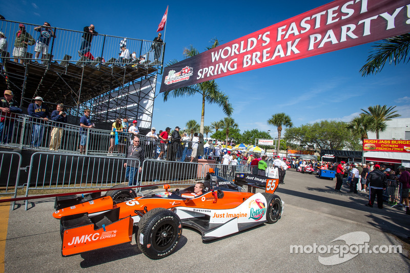 De auto van Tristan Vautier, Schmidt Peterson Motorsports Honda