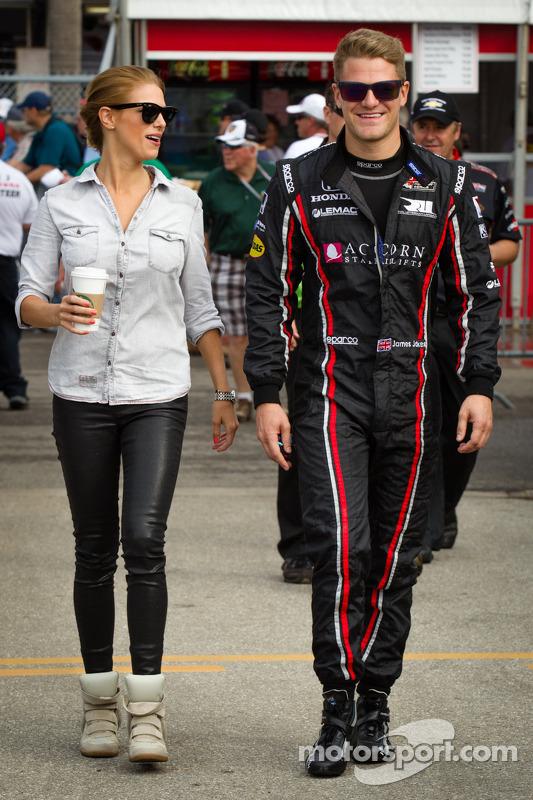 James Jakes, Rahal Letterman Lanigan Racing Honda com sua namorada