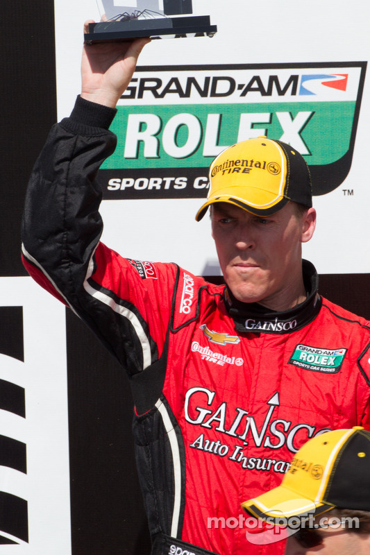 Victory lane: second place Alex Gurney