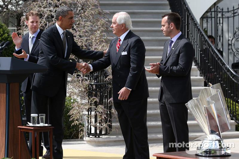 President Barack Obama with Roger Penske