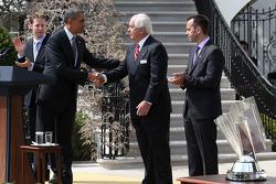 President Barack Obama met Roger Penske