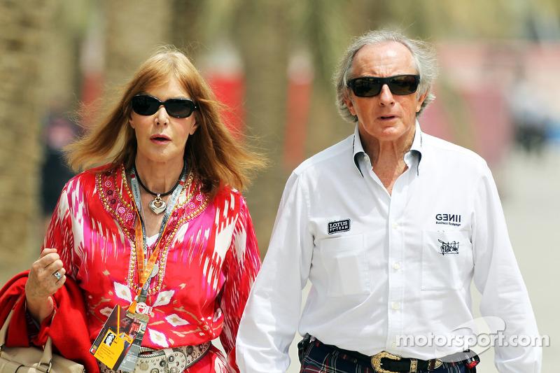 Jackie Stewart, com sua esposa Helen Stewart