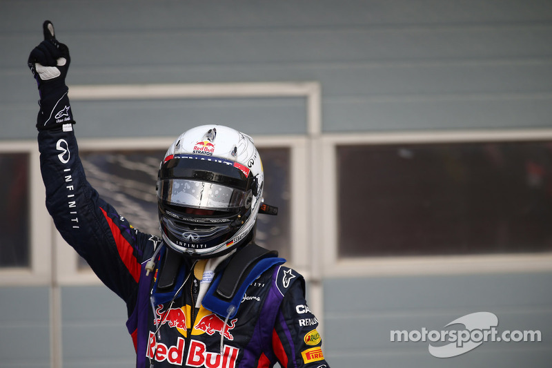 First place Sebastian Vettel, Red Bull Racing