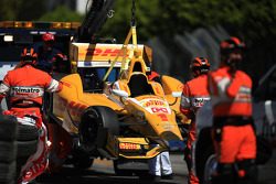 Trouble for Ryan Hunter-Reay, Andretti Autosport Chevrolet