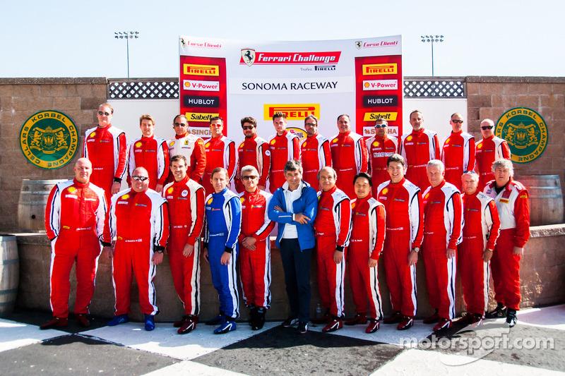 Ferrari Challenge Sonoma Raceway Drivers