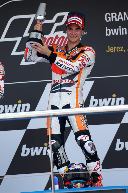 pódio: vencedor Dani Pedrosa, Repsol Honda Team