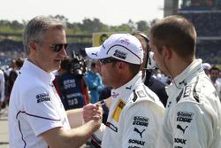 Jens Marquardt, BMW Motorsport Director with Joey Hand, BMW Team RBM BMW M3 DTM