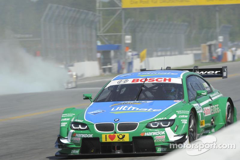 Adrien Tambay, Audi Sport Team Abt Audi RS 5 DTM on fire