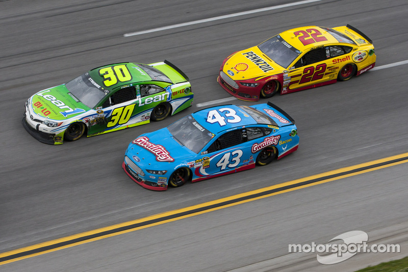 David Stremme, Aric Almirola and Joey Logano