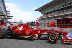 Felipe Massa, Ferrari leaves the pits