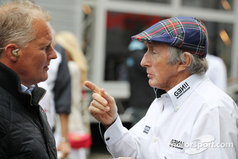 Johnny Herbert, with Jackie Stewart