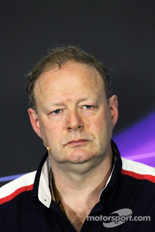 Mike Coughlan, Williams Technical Director bij de FIA-persconferentie