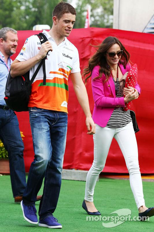Paul di Resta, Sahara Force India F1 with his girlfriend Laura Jordan