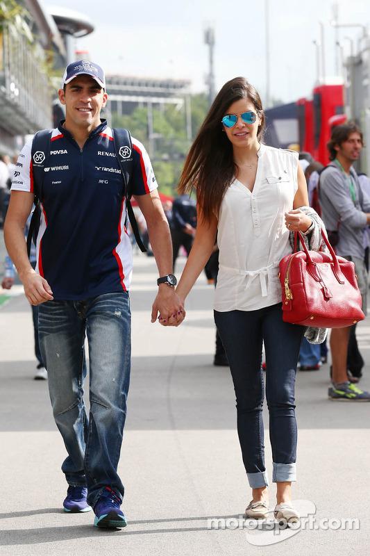 Pastor Maldonado, Williams com sua esposa Gabriele Tarkany