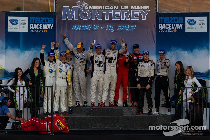 Klasse-winnaars: P1 Lucas Luhr en Klaus Graf; P2 Marino Franchitti en Scott Tucker; PC Luis Diaz en Mike Guasch; GT Antonio Garcia en Jan Magnussen; GTC Henrique Cisneros en Nick Tandy