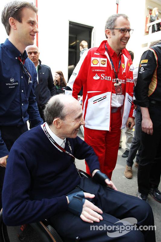 Frank Williams, Proprietário da equipe Williams com Stefano Domenicali, Presidente da Ferrari