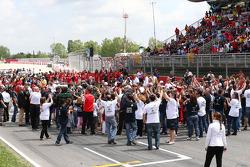 Exposição de campanha para segurança na estrada da FIA