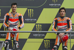 Race winner Dani Pedrosa, Repsol Honda Team and third place Marc Marquez, Repsol Honda Team