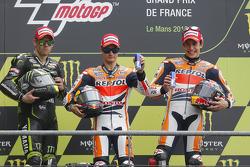 Podium: Sieger Dani Pedrosa, Repsol Honda Team, 2. Cal Crutchlow, Monster Yamaha Tech 3, 3. Marc Mar