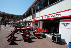 Marussia F1 Team pits