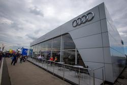 The huge Audi Sport hospitality