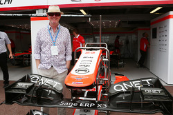 Chris Evans, Radio DJ and TV Presenter with the Marussia F1 Team team