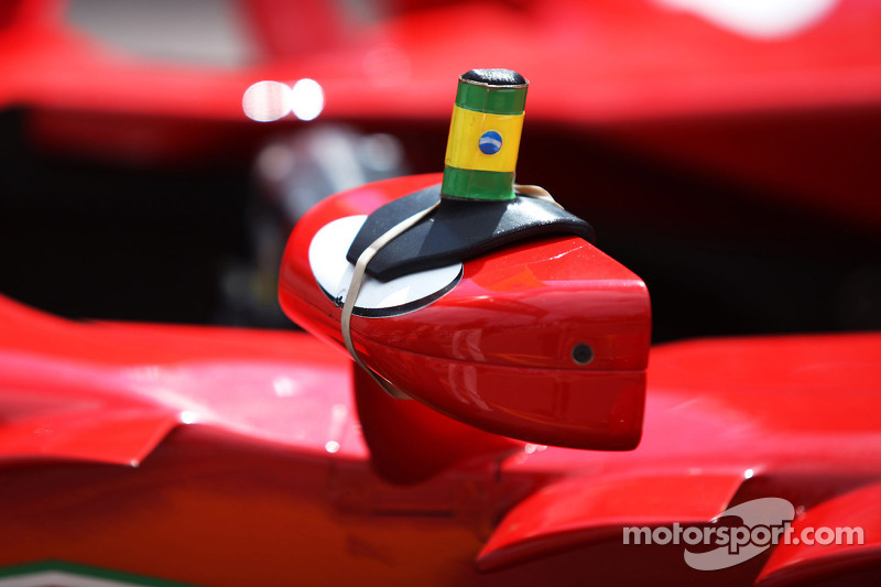 Ferrari F138 wing mirror with Brazilian motif