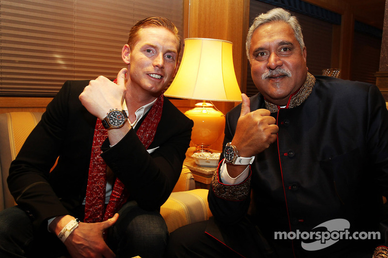 (L to R): Jordy Cobelens, CEO TW Steel with Dr. Vijay Mallya, Sahara Force India F1 Team Owner at the Signature F1 Monaco Party