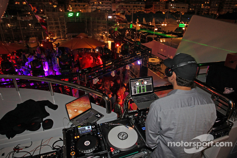 DJ at the Signature F1 Monaco Party