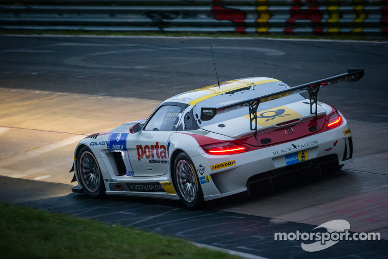 #9 Black Falcon Mercedes-Benz SLS AMG GT3 (SP9): Bernd Schneider, Jeroen Bleekemolen, Sean Edwards,