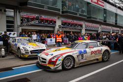 1. #9 Black Falcon, Mercedes-Benz SLS AMG GT3: Bernd Schneider, Jeroen Bleekemolen, Sean Edwards, Nicki Thiim