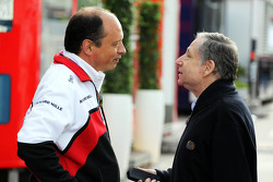 (L to R): Frederic Vasseur ART Boss with Jean Todt, FIA President