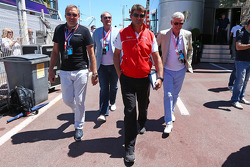 Graeme Lowdon, Marussia F1 Team Chief Executive Officer with Alan Pardew, Newcastle FC Manager