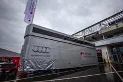 Audi Sport Customer Racing paddock structure
