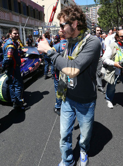 Valentino Rossi, Moto GP rider, on the grid