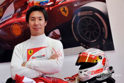 Kamui Kobayashi tests Ferrari F10